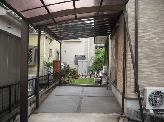 駐車場を広げカーポートリフォーム工事(八王子市散田町)