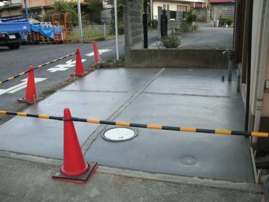 砂利の車庫をコンクリートにしたい