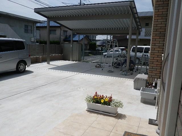 新築外溝工事とデッキ工事(昭島市朝日町)