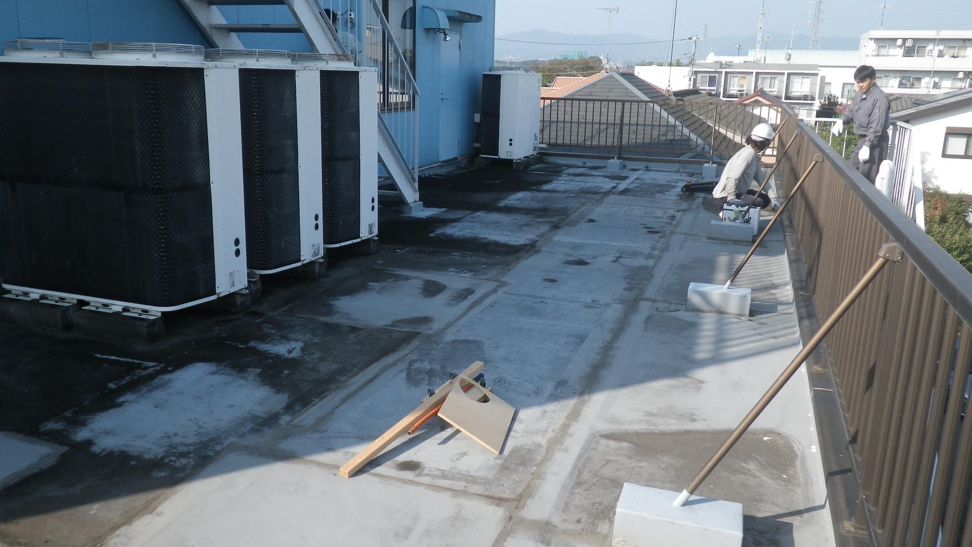 八王子市子安町のビル屋上の防水工事例と費用