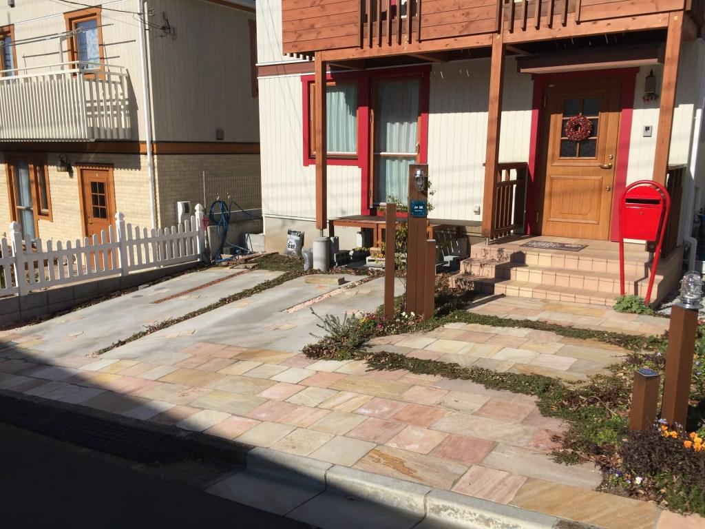 八王子のソデノ建装・新築外溝(お庭や駐車場)工事のご紹介。