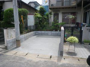 町田市相原でお庭を駐車場へリフォームと駐車場を広げる工事例と価格