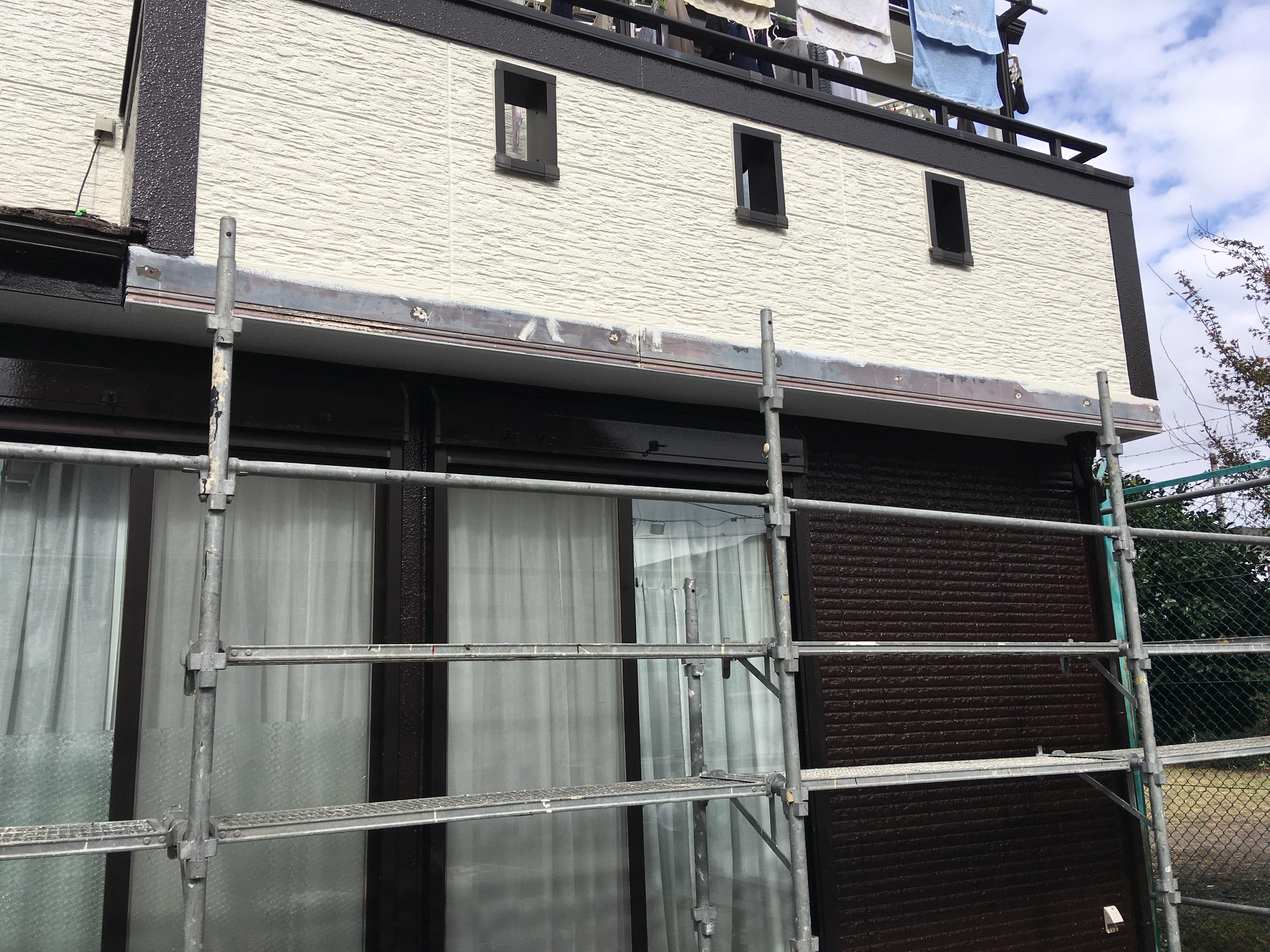外壁装飾部の補修工事